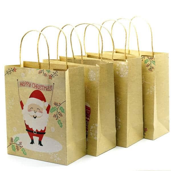 christmas paper bags wholesale