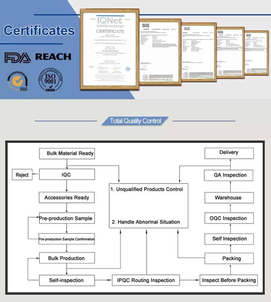 certificados de bolsos con cordón