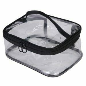 clear plastic cosmetic bags