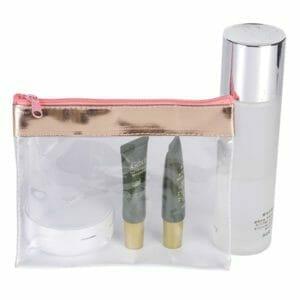 trousse de maquillage en plastique transparent