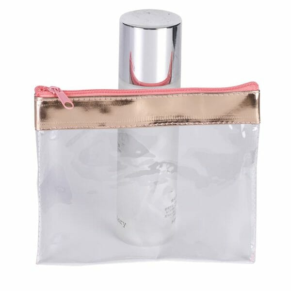 clear plastic travel makeup bag