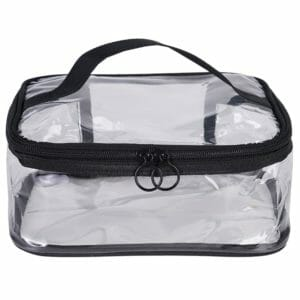 clear plastic zip cosmetic bags