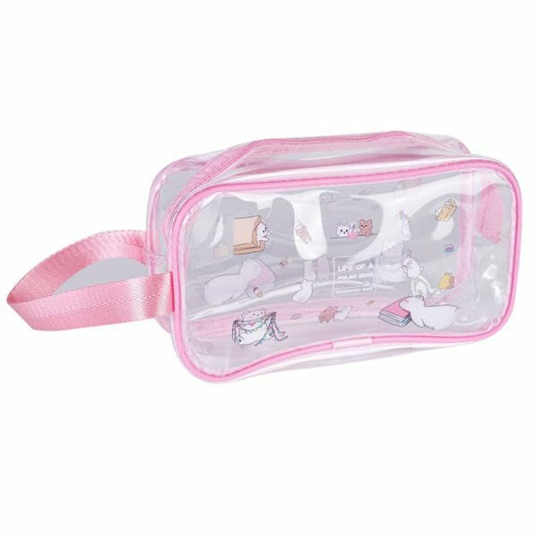 clear plastic travel toiletry bags