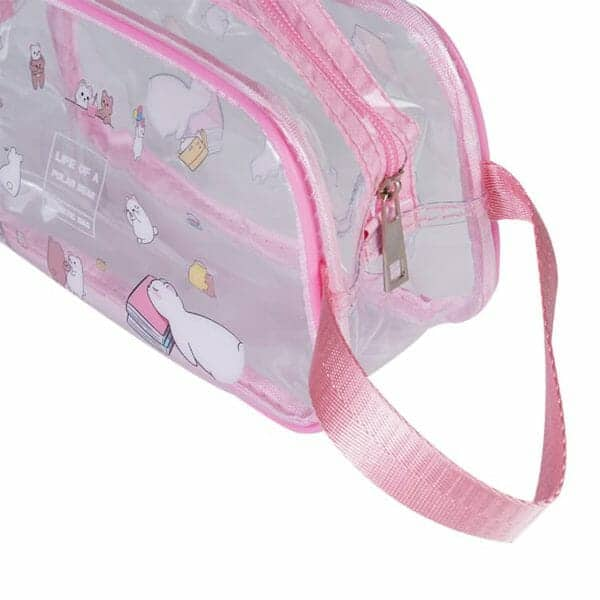 clear plastic cosmetic travel bags