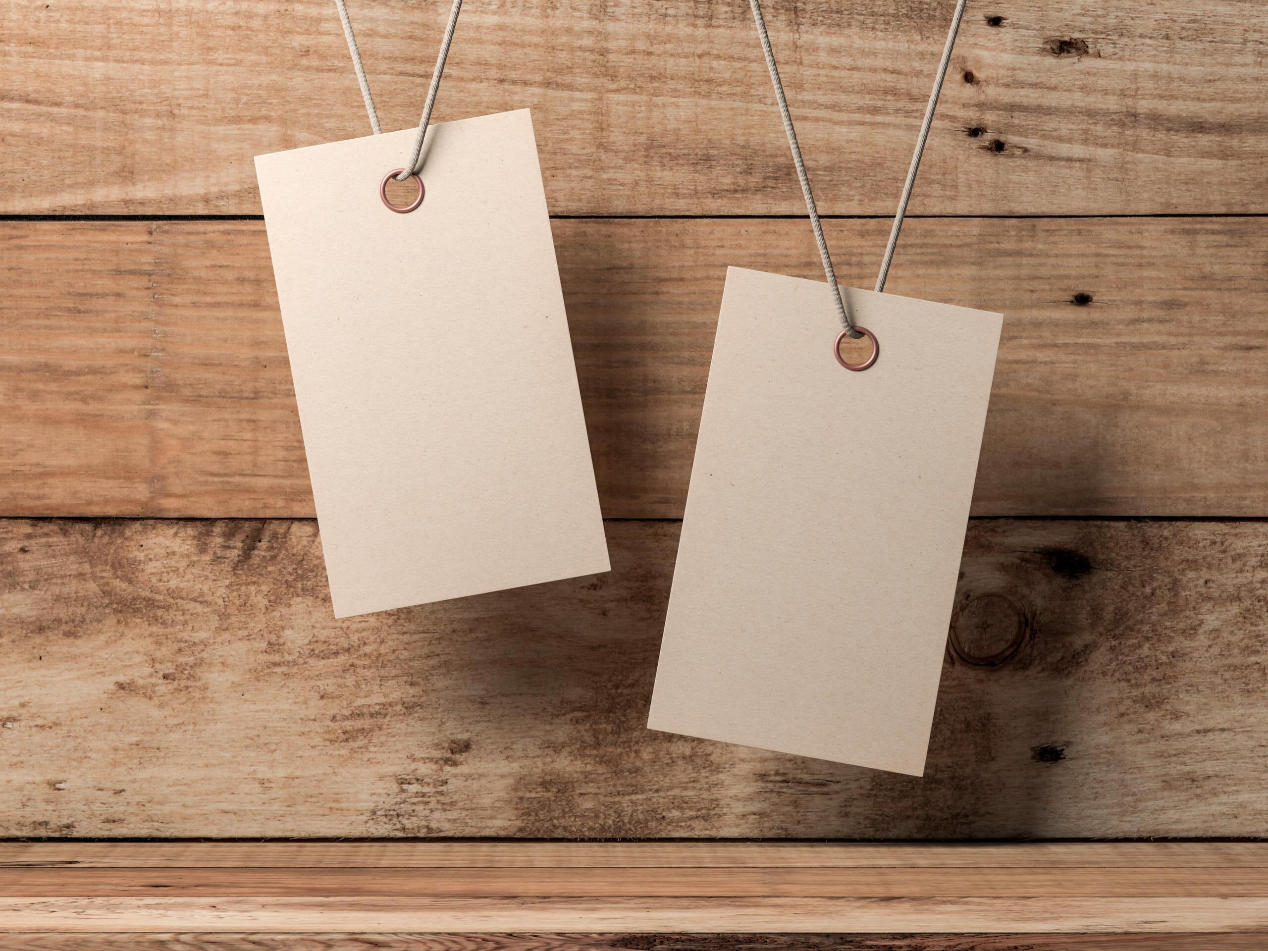 2クラフト紙タグのカスタマイズのプロセス制限
